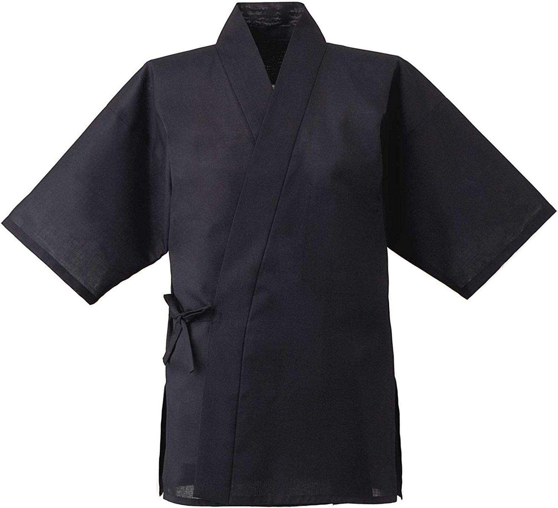 Japanese SUSHI Chef/'s Uniform Happi Jacket Jinbei White ITAMAE Kimono from JAPAN