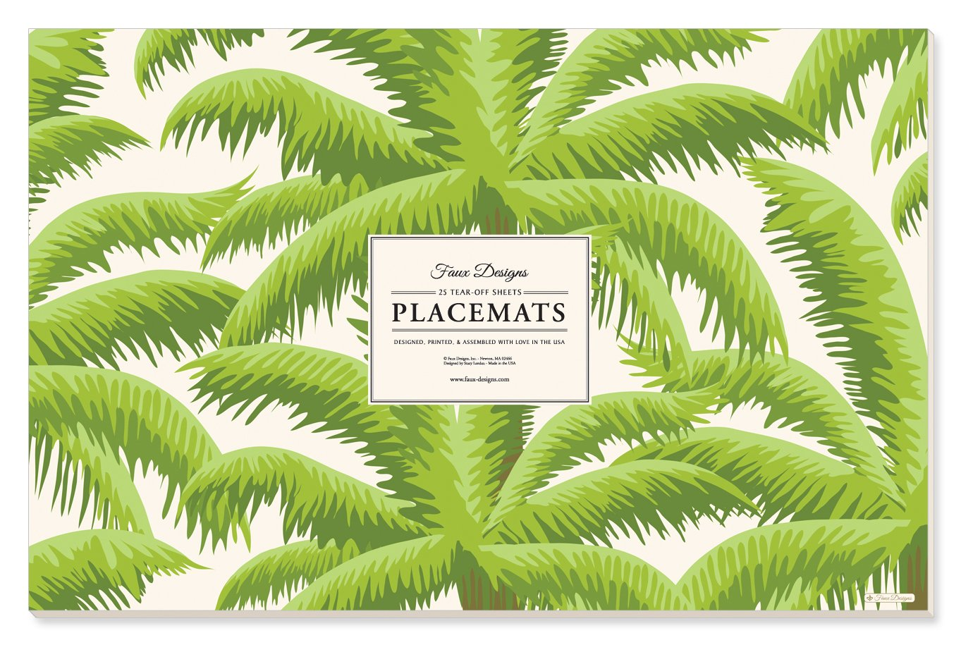 Faux Designs Paper Placemats - Palm