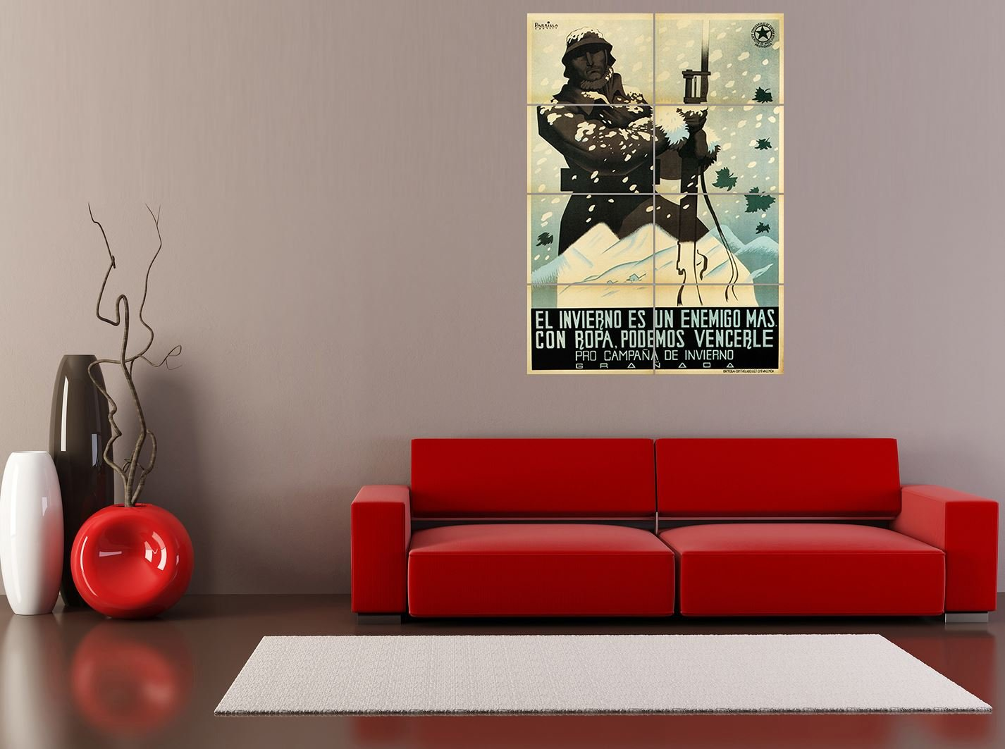 Amazon.com: PANEL ART PRINT WAR PROPAGANDA SPANISH CIVIL WINTER CAMPAIGN UGT REPUBLICAN SPAIN REPRODUCTION POSTER OZ4884 by PANEL POSTERS: Posters & Prints
