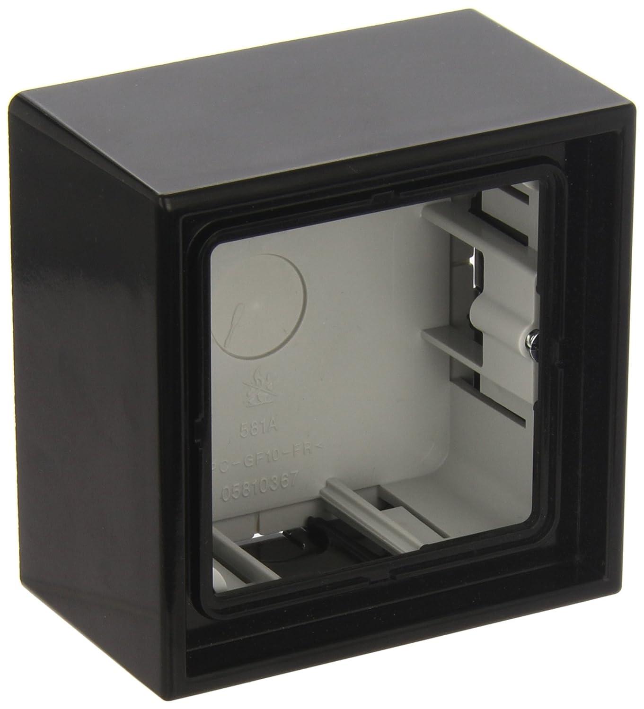JUNG LS581ASW Caja de Superficie, Simple, 81 x 81 x 47mm, Negro, Duroplástico, Brillante: Amazon.es: Industria, empresas y ciencia
