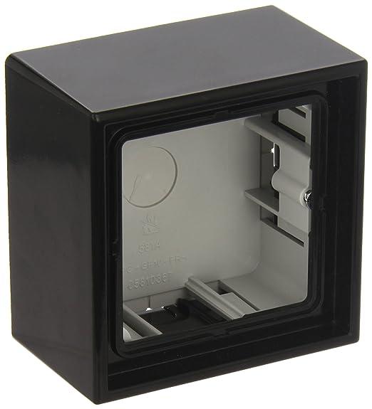 JUNG LS581ASW Caja de Superficie, Simple, 81 x 81 x 47mm, Negro ...