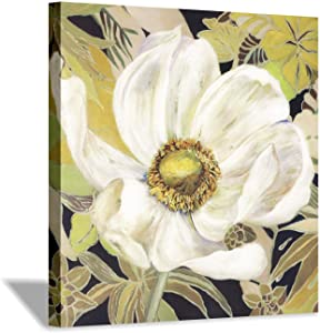 Hardy Gallery Flower Abstract Artwork Canvas Print: Floral Bloom Decor Picture Painting for Wall Art (12''x12'')
