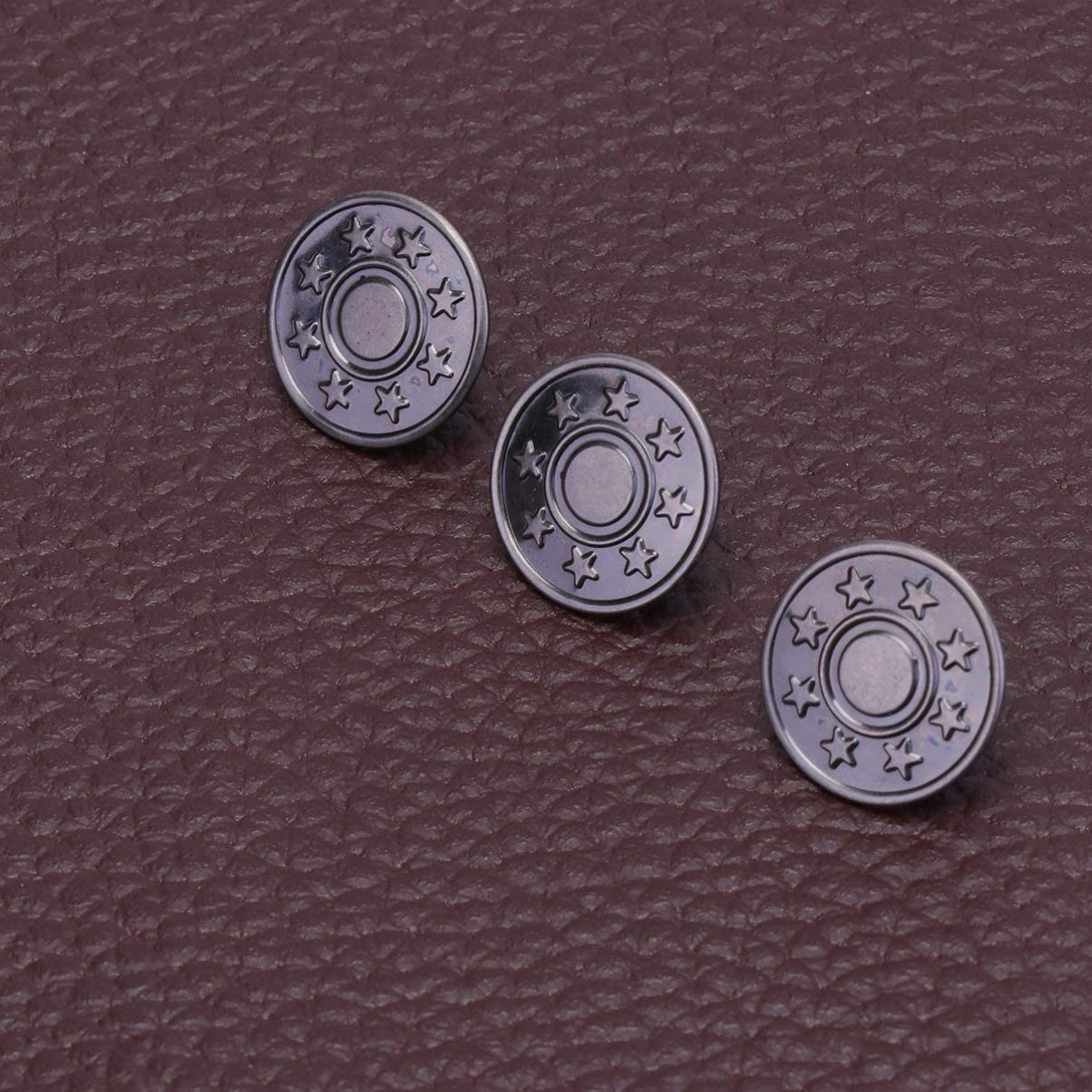 Artibetter 40 Set Jeans Button Tack Buttons Metal Replacement Jeans Button Kit Snap Buttons for Jeans Shop Home Use 17MM