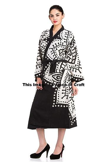 Indian Cotton Mandala Kimono Bath Robe Dressing Gown Bridesmaid Gown