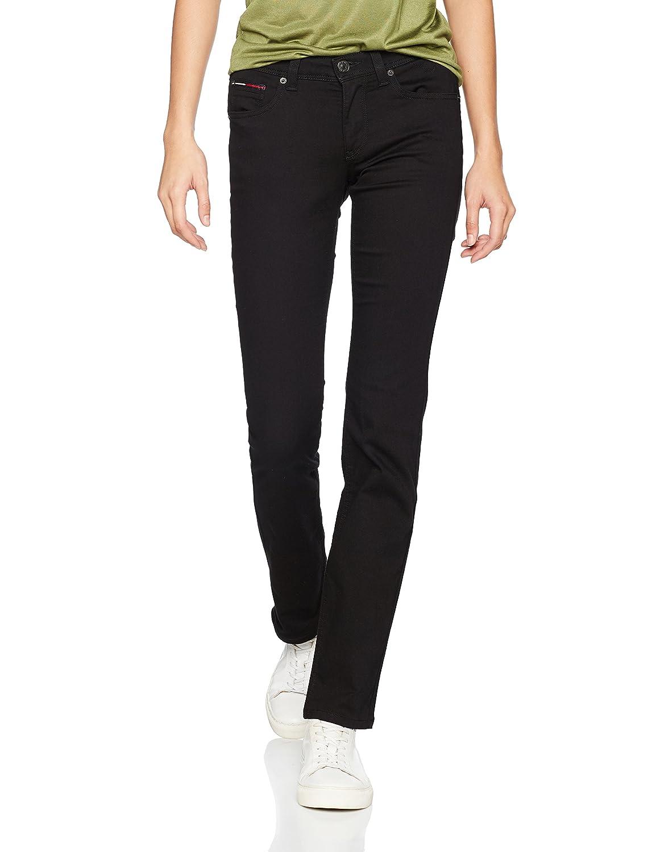 TALLA W29/L34 (Talla del fabricante: 3429). Tommy Jeans Mid Rise Sandy Vaqueros Straight para Mujer