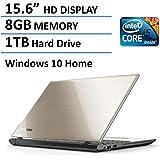 Toshiba Satellite L55 15.6-Inch Laptop (Intel Core i5-5200U Processor, 8GB Memory, 1TB Hard Drive, DVD SuperMulti Drive, Windows 10, Satin Gold)