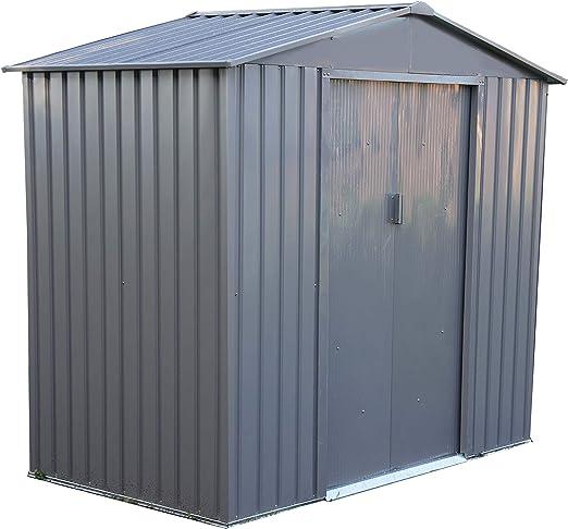 Caseta de Metal para jardín 2, 7m2: Amazon.es: Jardín