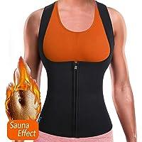 Women Waist Trainer Corset Neoprene Sweat Sauna Vest Zipper Weight Loss Slimming Tummy Control Body Shaper