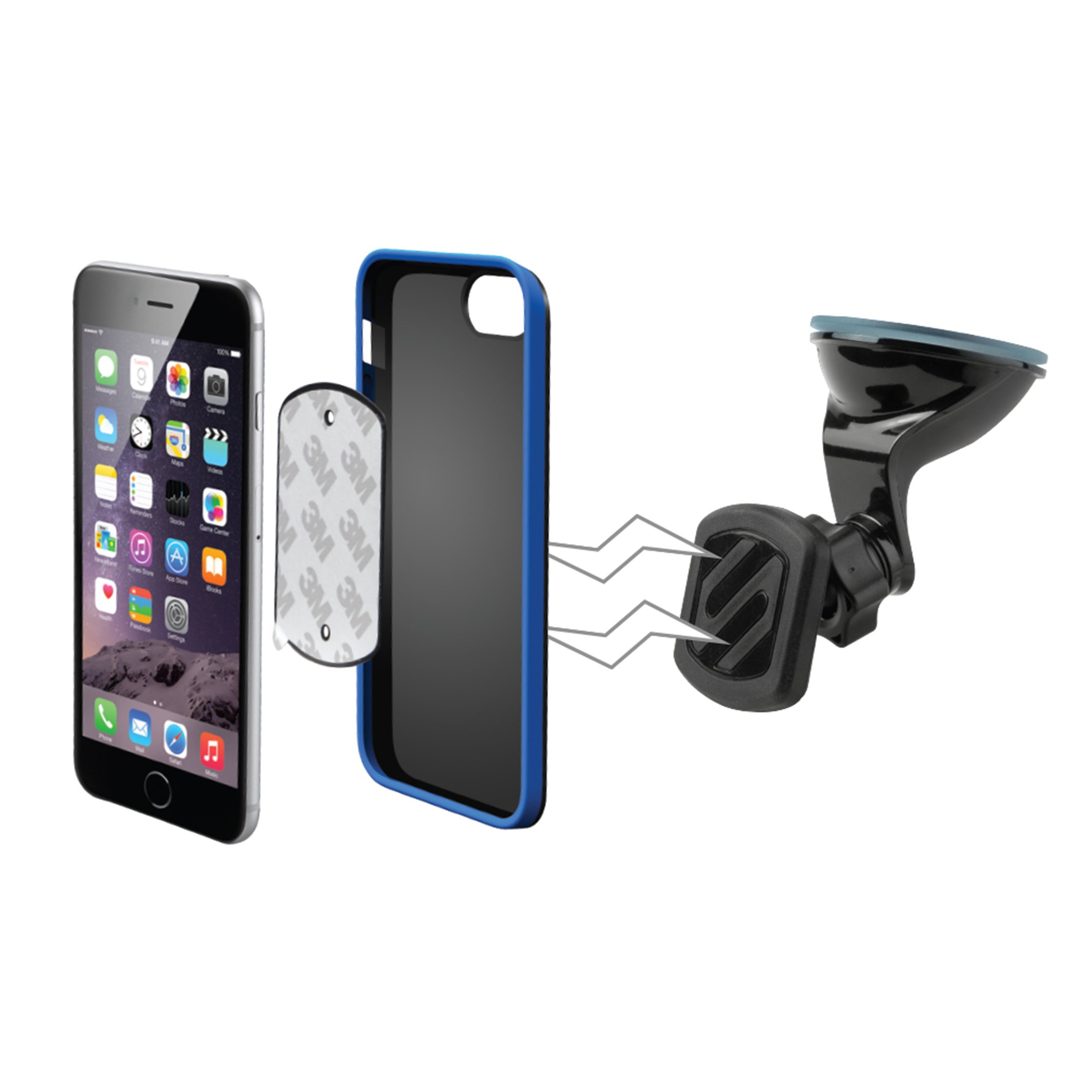 SCOSCHE MAGWSM2 MagicMount Universal Magnetic Phone/GPS Suction Cup Mount for the Car, Home or Office by Scosche (Image #6)