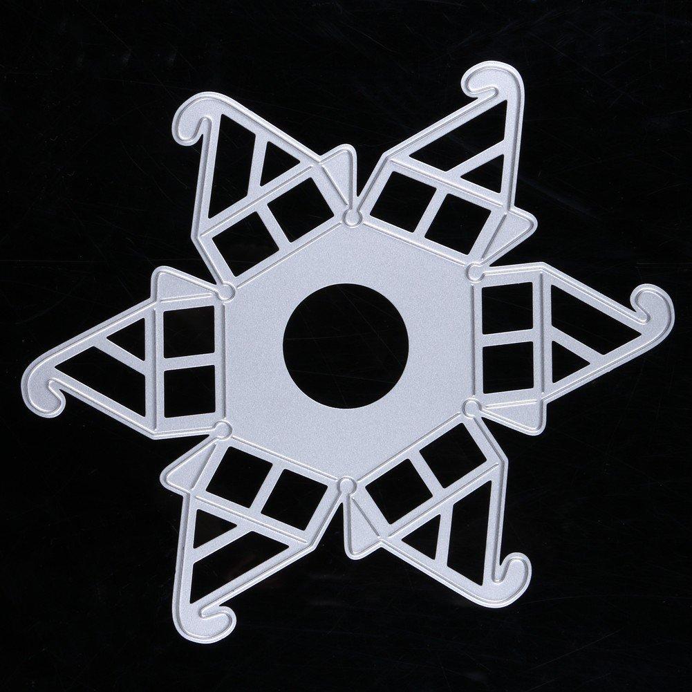 Demiawaking Figura di Stampino Metallo di Artigianale Scrapbooking Stencil