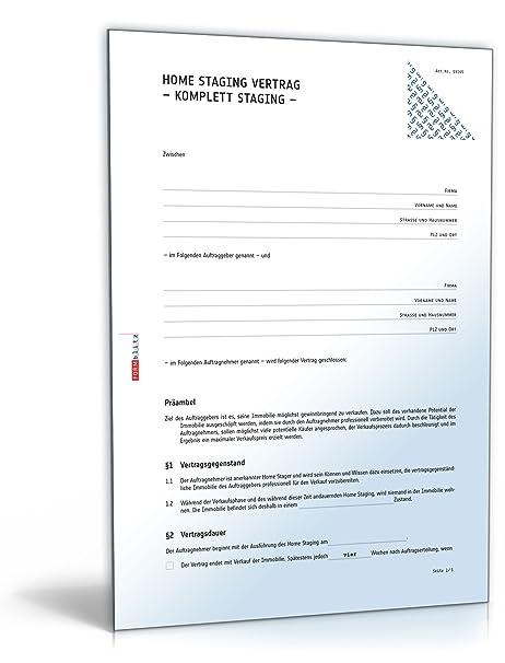 Home Staging Vertrag Zip Ordner Amazonde Software