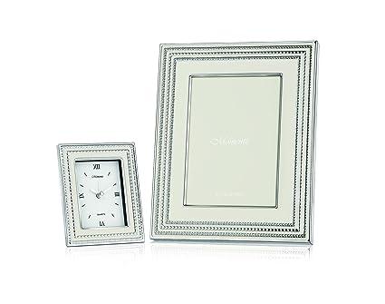 Buy Momentz Set of Luxury Photo Frame (White) + Luxury Clock (White ...
