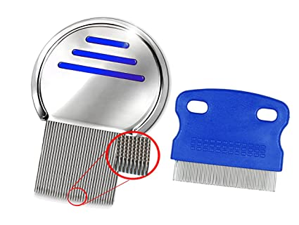 Amazon Com Head Hair Lice Comb Set Reusable Professional Stainless