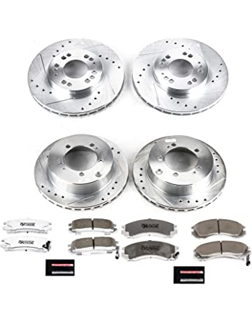 HIGHLANDER 08-12 FULL KIT POWERSPORT BLACK DRILL//SLOT /& Pad For Brake Rotors