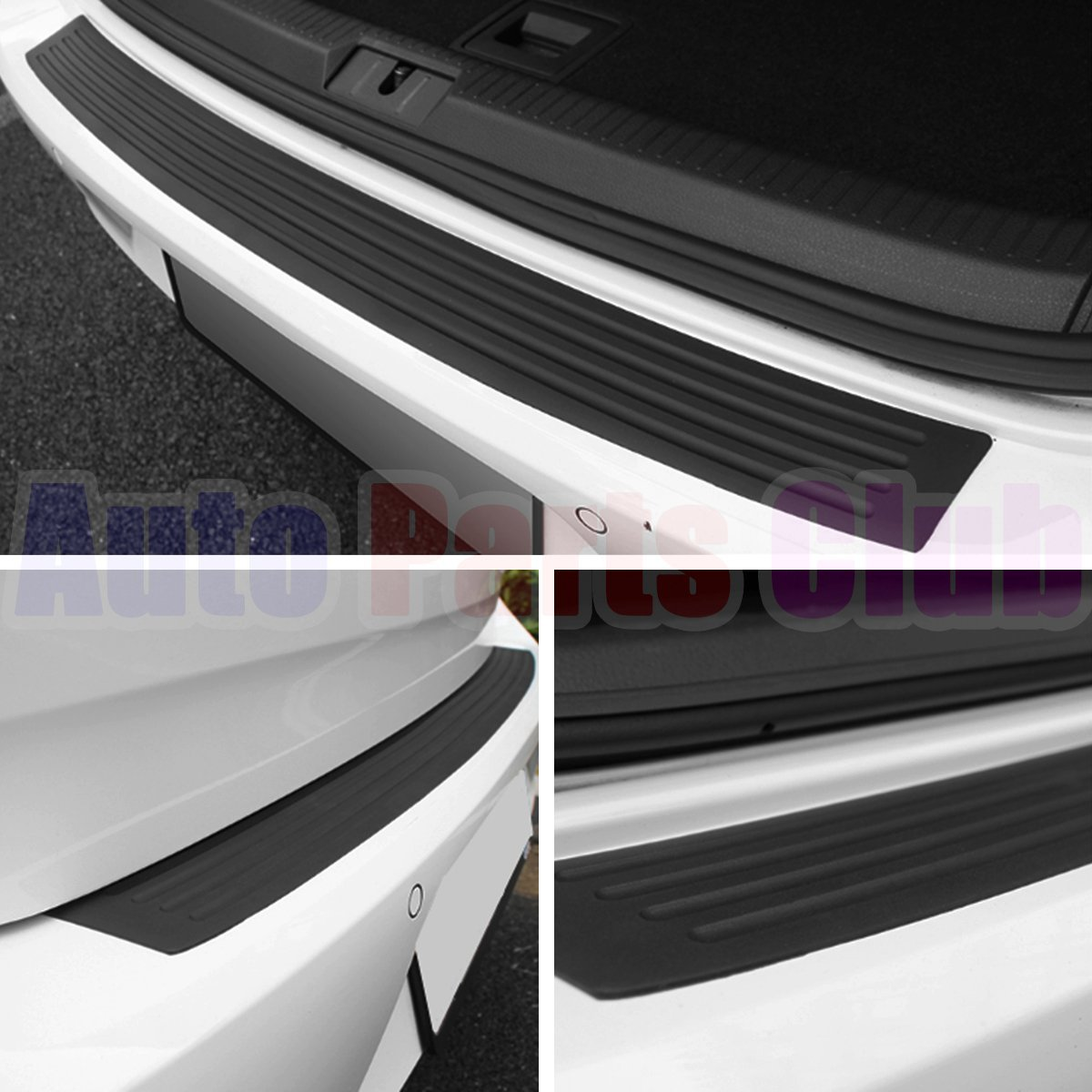 35.8 inch Rear Bumper Guard//Universal Black Rubber Door Sill Guard for Car Pickup SUV Truck//Scratch-Resistant Boot Sill Protector,Easy D.I.Y Installation Auto Parts Club u800Rear Bumper Protector