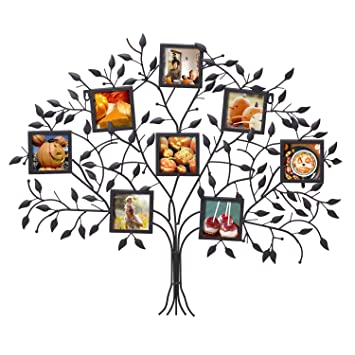 Amazoncom Asense Black Metal 8 Openings Family Tree Picture Photo