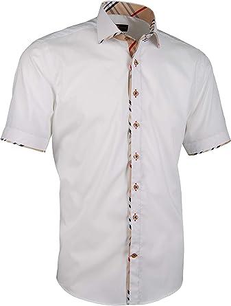 Giorgio Capone - Camisa Casual - para Hombre Blanco Small ...