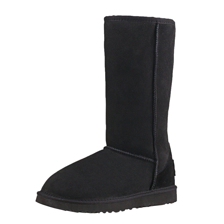 Shenduo Hauts Classic, Bottes de Neige Femme, B01MDTO1I8 Boots d'Hiver Hauts d'Hiver Confortable Doublure Chaude DV5815 Noir dd892b6 - shopssong.space