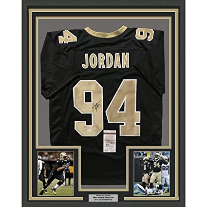 56d2d3230d7 Image Unavailable. Image not available for. Color: Framed Autographed/Signed  Cam Cameron Jordan 33x42 New Orleans Saints Black Football Jersey JSA COA