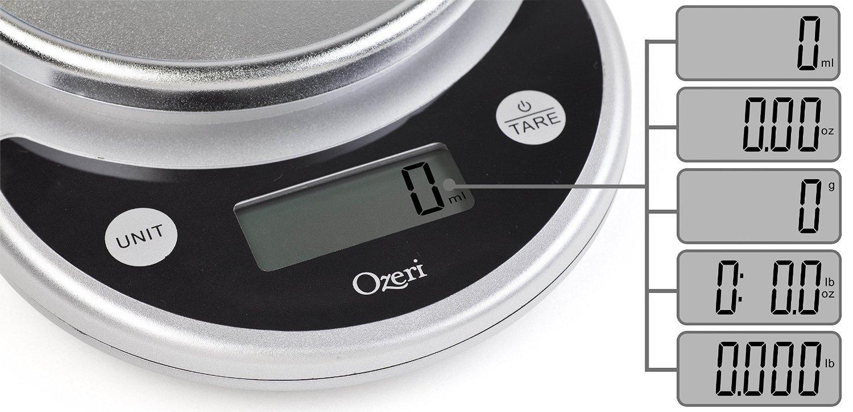 Ozeri Pronto Digital Multifunction Kitchen And Food Scale Elegant Black