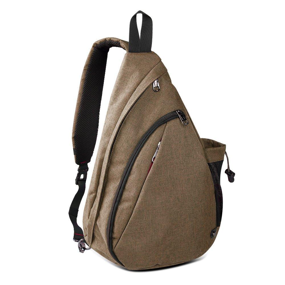 OutdoorMaster Sling Bag - Crossbody Backpack for Women & Men (Mocha Brown)