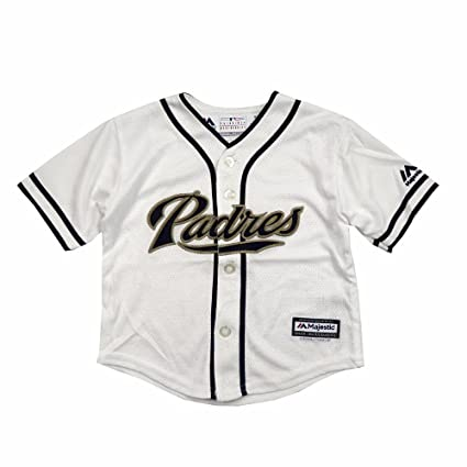 1d12bc9df56 Majestic Athletic San Diego Padres MLB White Official Home Cool Base Jersey  for Infant (12M