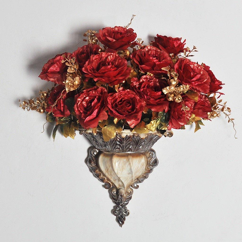 GAOLILI ヨーロッパスタイルの壁掛け壁掛け花瓶居間工場クリエイティブウォールプラグ花瓶 ( サイズ さいず : F f ) B07BJ5N2PW