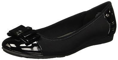 34bed2f6469 Anne Klein Sport Aricia Women US 7 Black Flats