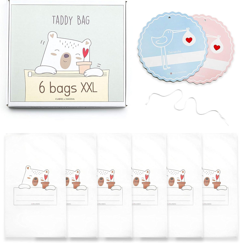 DAHEMA® - Bolsa para el cinturón del bebé Ospedale - Bolsas transparentes para la ropa - Kit de bolsa para el nacimiento impermeable con cremallera - Bolsas de regalo para bebé