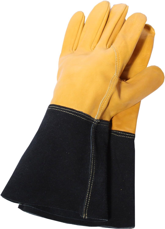 Town Country Large Premium Heavy Duty Gauntlet Gardening Gloves