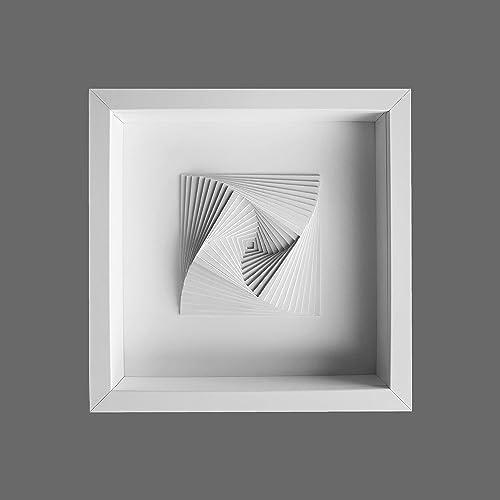 Minimalist White 3D Wall Design