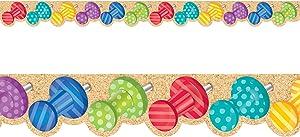 Creative Teaching Press Bold & Bright Push Pins Border (8347)