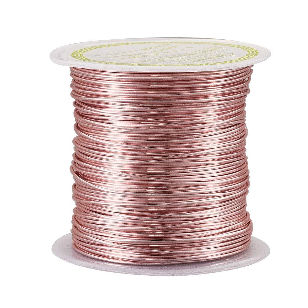 Alambre de Metal Chapado en Oro Rosa de 0,8 mm para joyer/ía y artesan/ías 0.8mm in Diameter 8m//Roll jardiner/ía NBEADS para Hacer Modelos