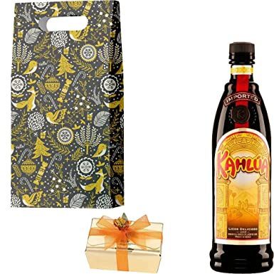 Kahlua Coffee Liqueur Christmas Gift Set With Handcrafted Merry Christmas Gifts2Drink Tag: Amazon.co.uk: Grocery