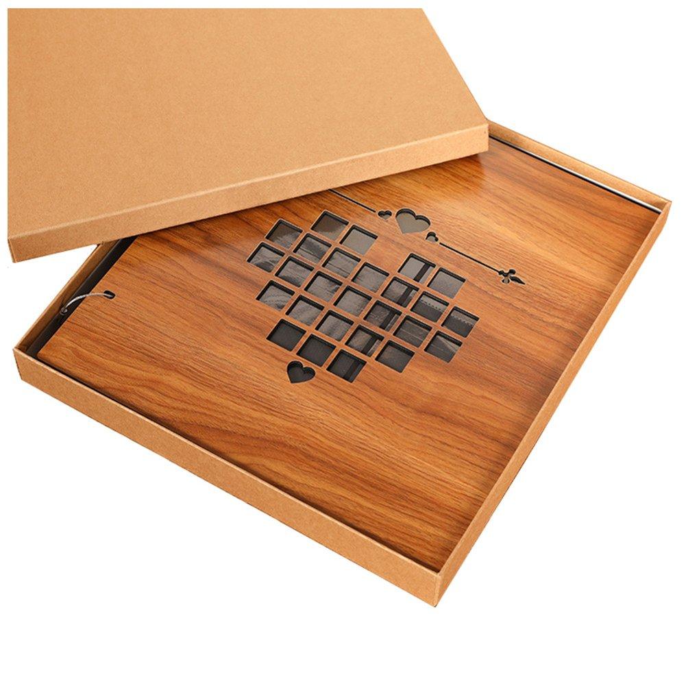 Nizzco Photo Albums,Heart-shaped hollow design frame cover,800 Pockets Hold 4''x6'' Photos