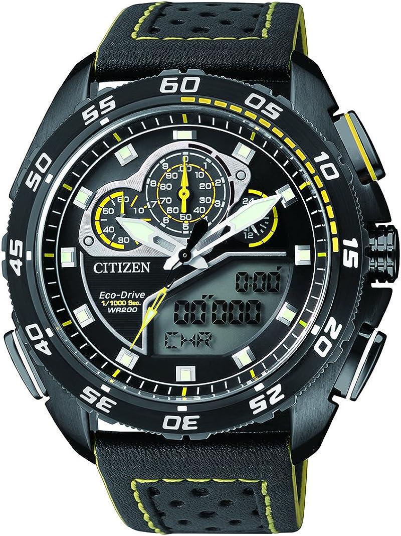 Citizen Promaster Land–Reloj de Pulsera analógico–Digital Cuarzo Piel jw0125–00E