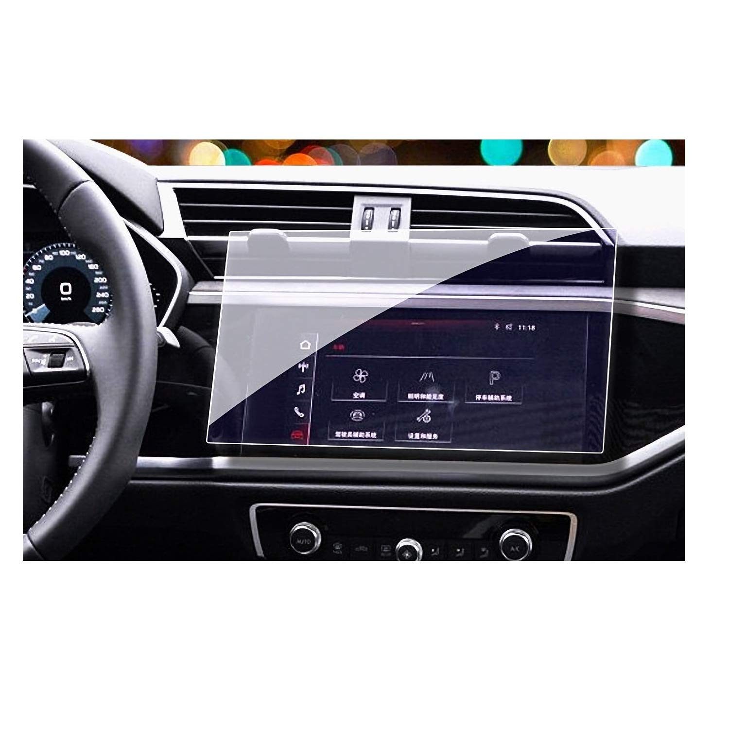 Audi Navigation Accessories Screen Protector Compatible with 2019 2020 Audi Q3 Touch Screen,Wonderfulhz,Anti Glare Scratch,Shock-Resistant