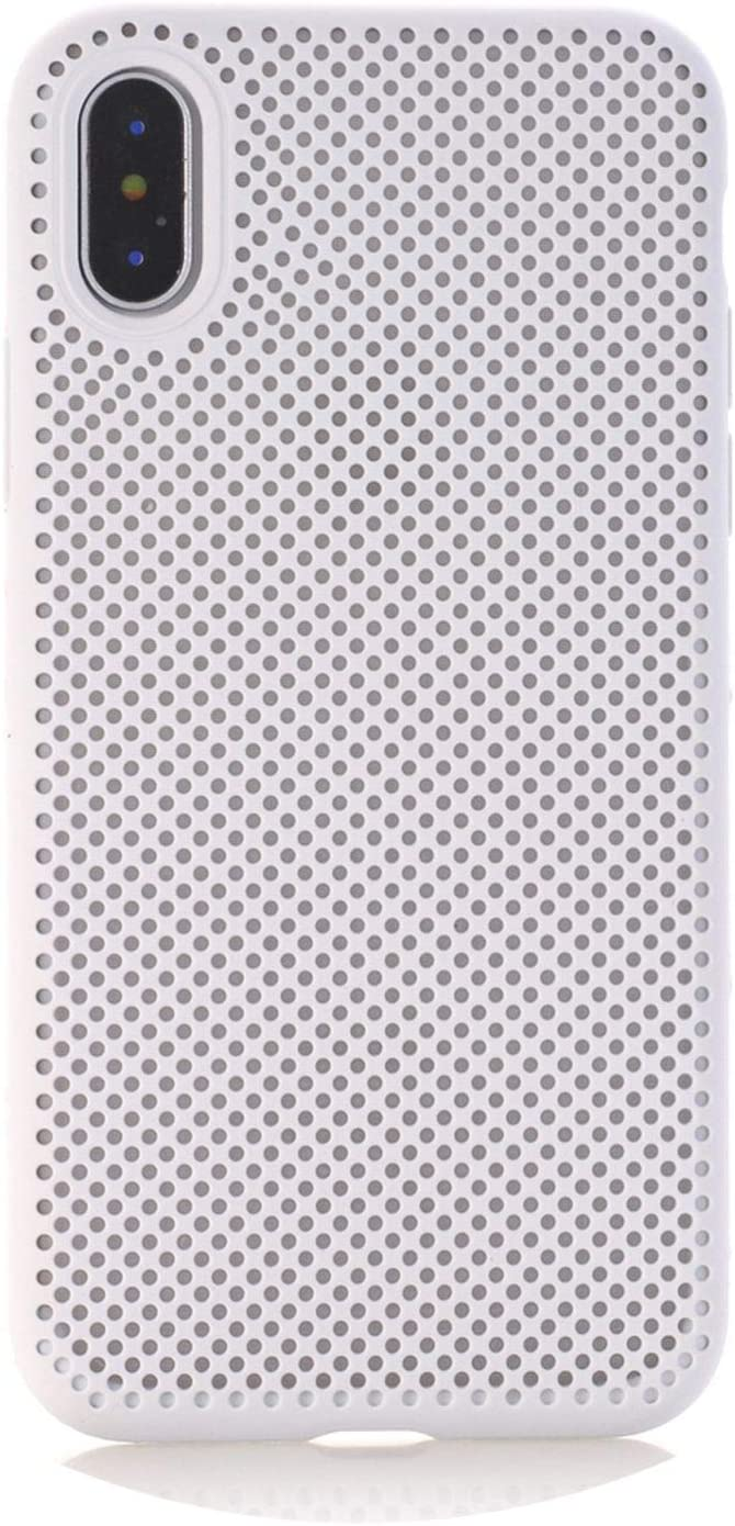 Honeycomb Phone Case for iPhone X 10 XS 7 8 Plus Soft Breathable Cooling Protective Back Cover for iPhone 6 6s Plus 5 5s SE Case,White,7plus 8plus