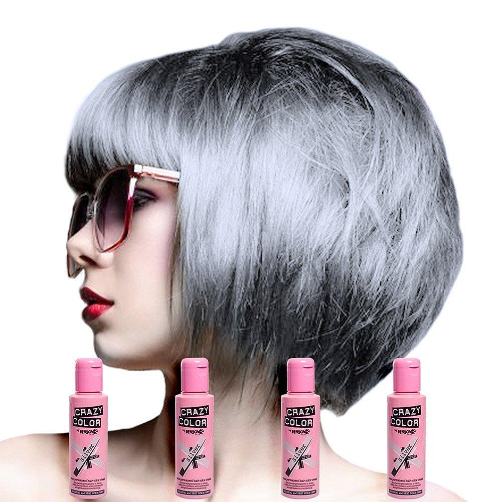 Crazy Colour Semi Permanent Hair Dye By Renbow Platinum No28100ml