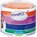 Aladine 85150 Stampo Colors - Lote de 4 tampones para sellos de madera, diseño de carnaval
