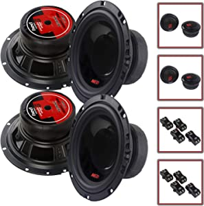 "4 Speaker Cerwin Vega 2-Way Component 6.5"" Speaker Systems with Tweeters and Crossovers H765C"