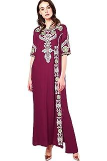 55c5bd1819c24 Islamic Clothing Embroidery Women Jalabiya Muslim Abaya Long Dubai Dress  LF-14