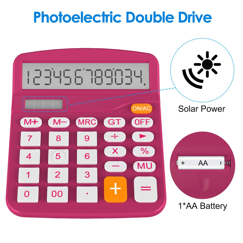 Calculadora B/ásica Helect H1001A Naranja Energ/ía Solar