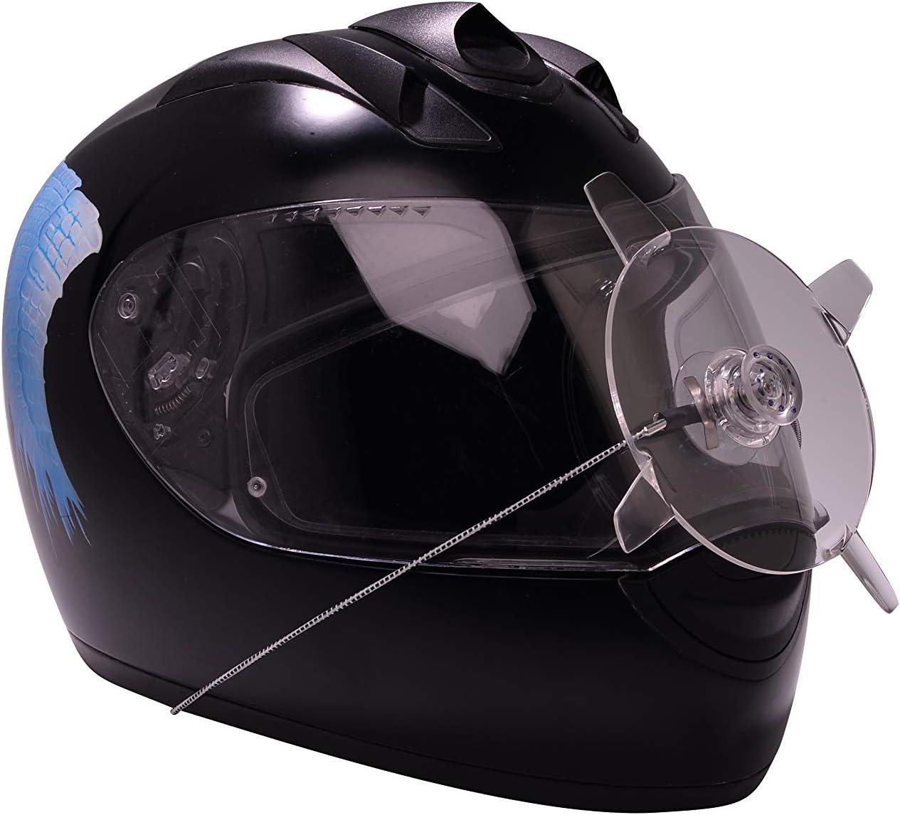 REGENSCHUTZSCHEIBE aplicable universalmente Limpiaparabrisas de casco disco de lanzamiento El limpiaparabrisas de la visera para motociclistas