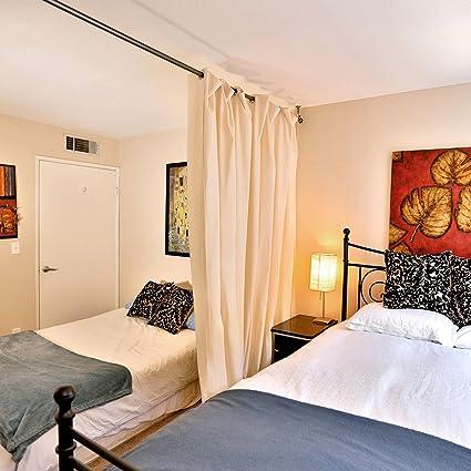 RoomDividersNow Muslin Hanging Room Divider Kit   Medium A, 8ft Tall X 4ft  8in