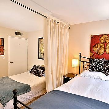 Amazon.com: RoomDividersNow Muslin Hanging Room Divider Kit ...