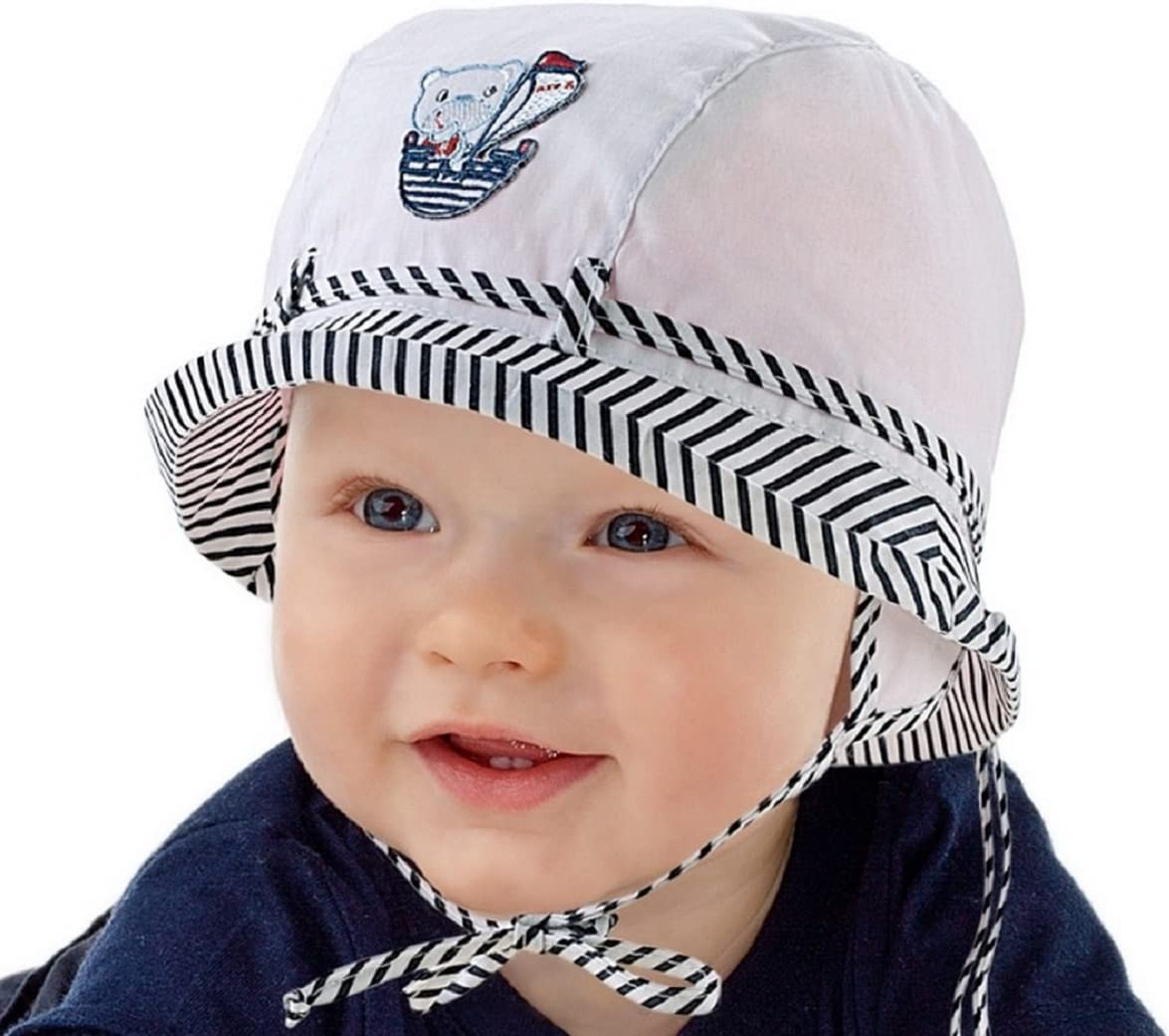 nueva colecci/ón marinera White Navy Talla:12-18 months 48cm 6/9/12/18/24/meses 2/a/3/a/ños para vacaciones en la playa Sombreo de sol para beb/é sombrero de verano