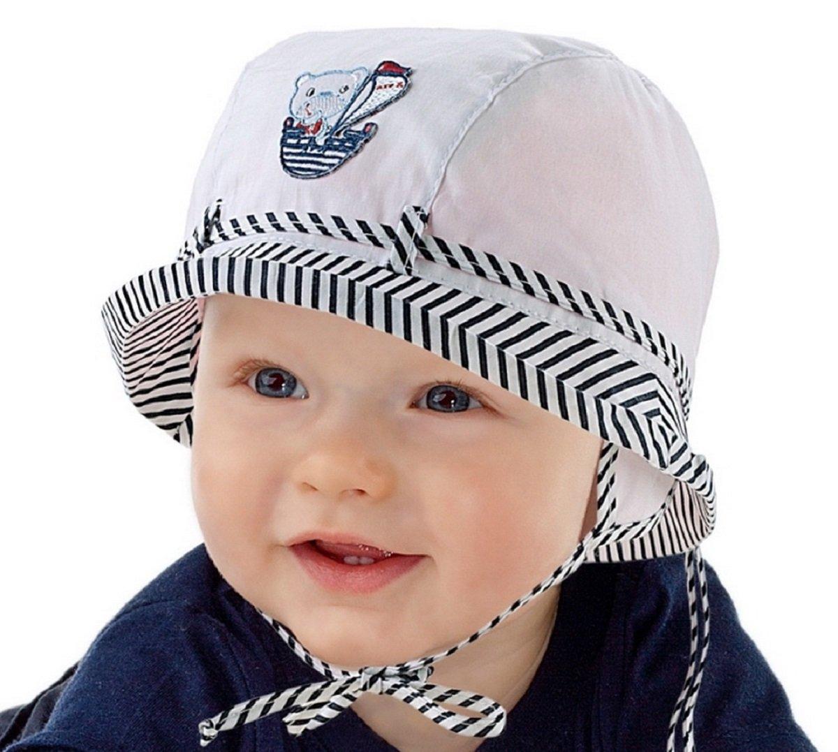 Boys Sun Hat Holiday Beach Summer Baby Boy Hat 6 9 12 18 24 months 2-3  years Marine Collection NEW (2-3 years 52cm b4551cbb68f