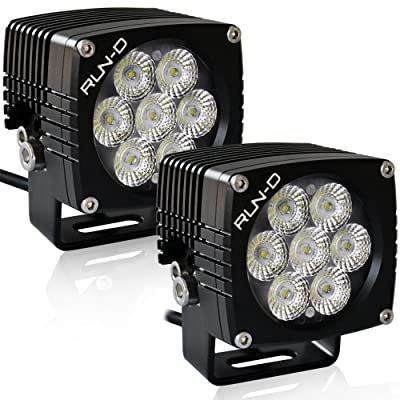 RUN-D 35W CREE LED Driving Lights 3'' Flood Off Road Work Light - 1 Pair: Automotive