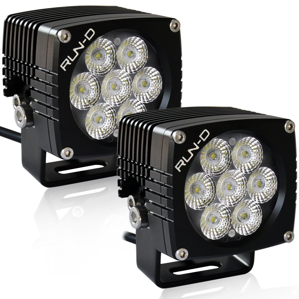 Amazon run d 35w cree led driving lights 3 flood off road amazon run d 35w cree led driving lights 3 flood off road work light 1 pair automotive aloadofball Gallery